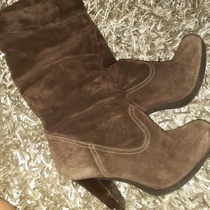MK brown suede boots size 8